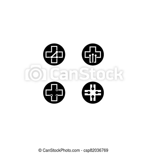 Medical cross vector icon - csp82036769
