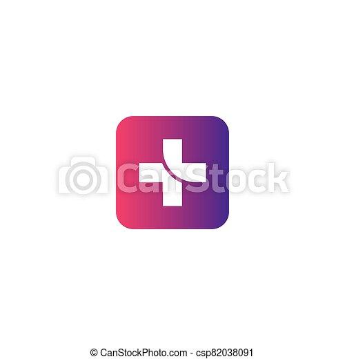 Medical cross vector icon - csp82038091