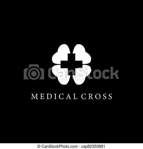 Medical cross vector icon - csp82350881