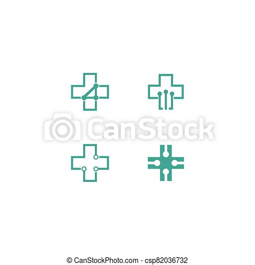 Medical cross vector icon - csp82036732