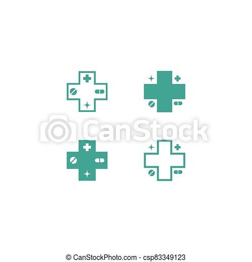 Medical cross vector icon - csp83349123