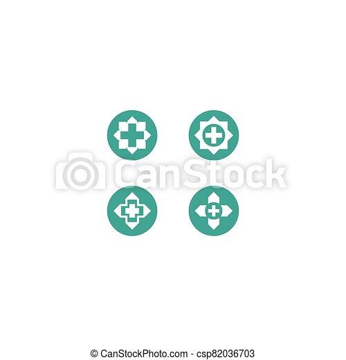 Medical cross vector icon - csp82036703