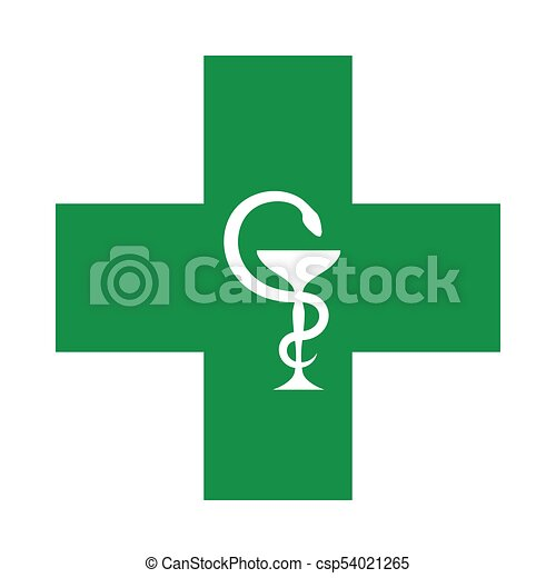 Medical Cross (with the bowl of Hygeia) - csp54021265