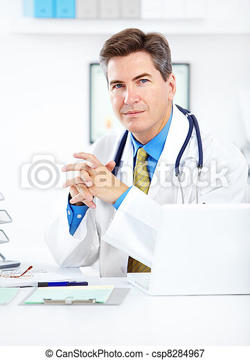 Medical doctor at the hospital. - csp8284967