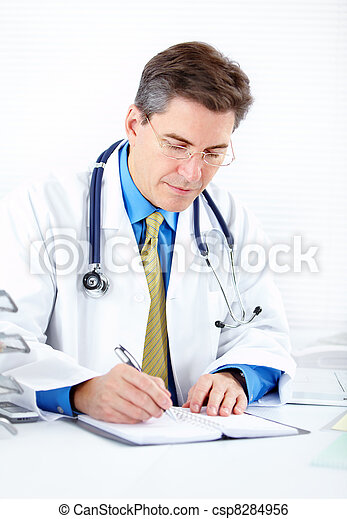 Medical doctor at the hospital. - csp8284956