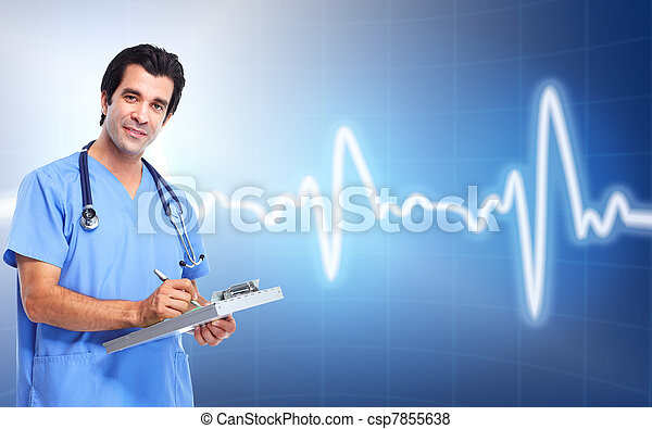 Medical doctor cardiologist. Health care. - csp7855638