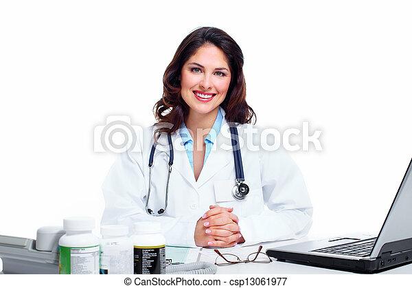 Medical doctor woman. - csp13061977