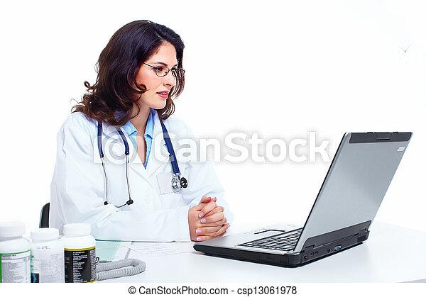 Medical doctor woman. - csp13061978