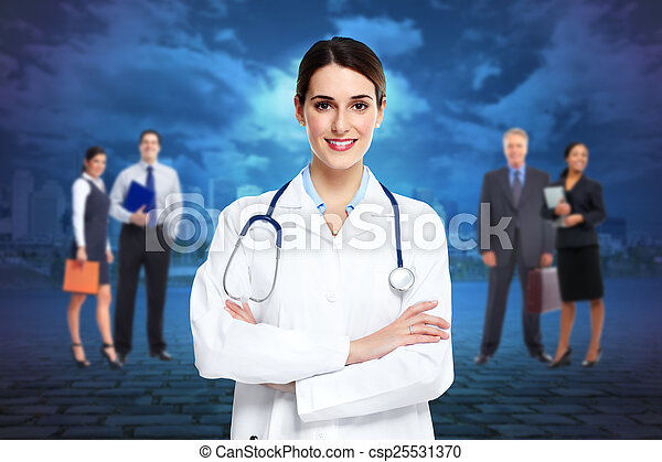 Medical doctor woman. - csp25531370