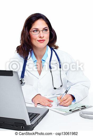 Medical doctor woman. - csp13061982