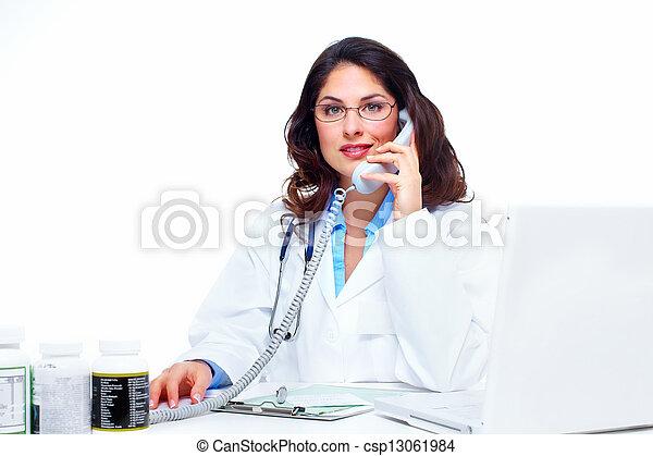 Medical doctor woman. - csp13061984