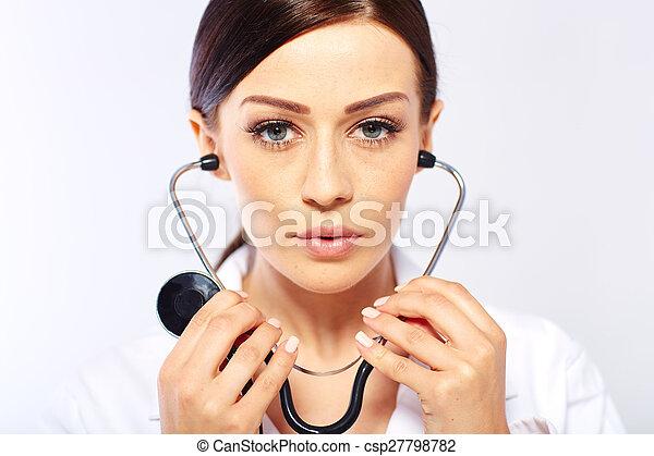 Medical doctor woman - csp27798782
