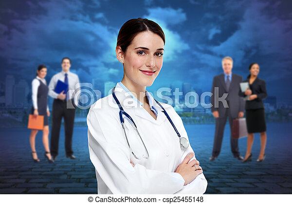 Medical doctor woman. - csp25455148