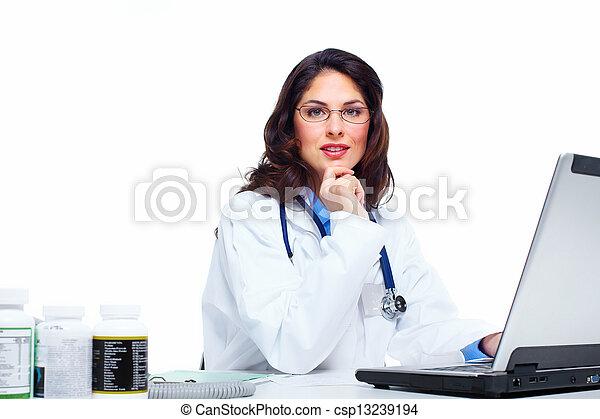 Medical doctor woman. - csp13239194
