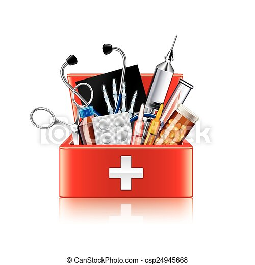 Vector Clipart - Flat medical icons concept set of medical supplies,  healthcare diagnosis and treatment, laboratory tests, medicines and  equipment. vector concept for graphic and web design. Vector Illustration  gg110520383 - GoGraph