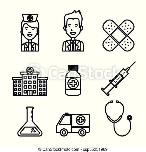 Modern Medical Equipment Supplies Set 3 Stock-Vektorgrafik (Lizenzfrei)  212913805