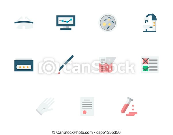 Medical Expertise Flat Vector Icons Set Abstract Symbols Of Medical