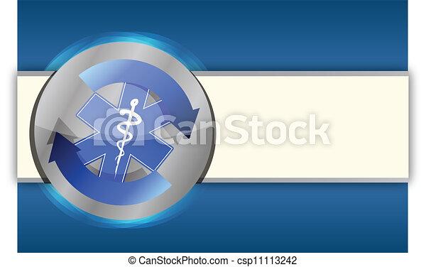 Medical health blue business background - csp11113242
