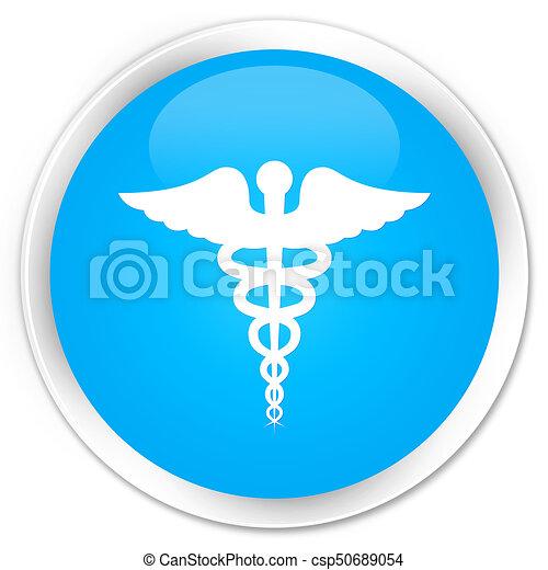 Medical icon premium cyan blue round button - csp50689054