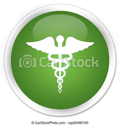 Medical icon premium soft green round button - csp50490163