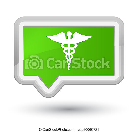 Medical icon prime soft green banner button - csp50060721