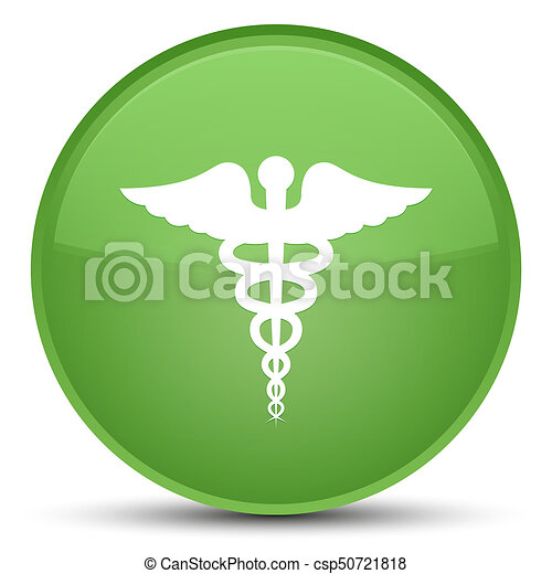 Medical icon special soft green round button - csp50721818