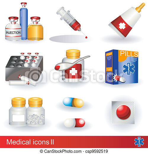 Medical icons 2 - csp9592519