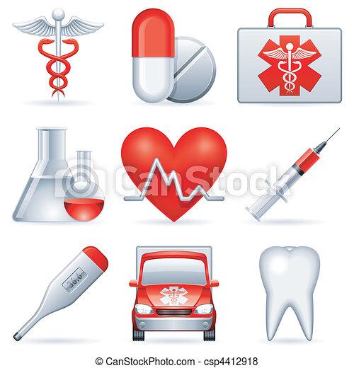 Medical icons. - csp4412918