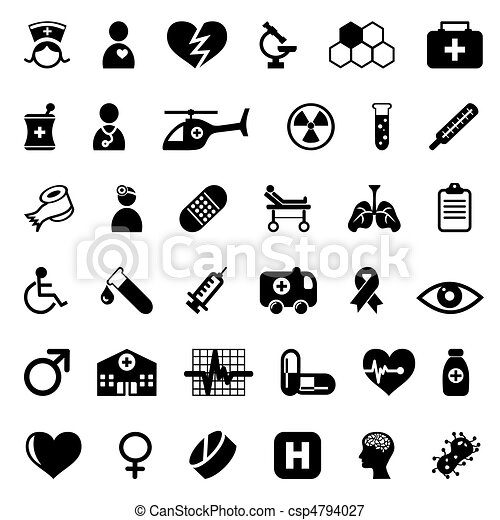 Medical icons - csp4794027