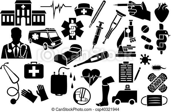 medical icons set - csp40321944