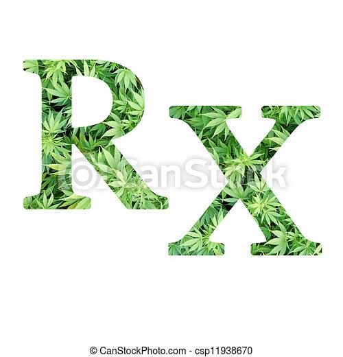 Medical Marijuana Rx Medical Marijuana Pharmacy Rx Symbol With