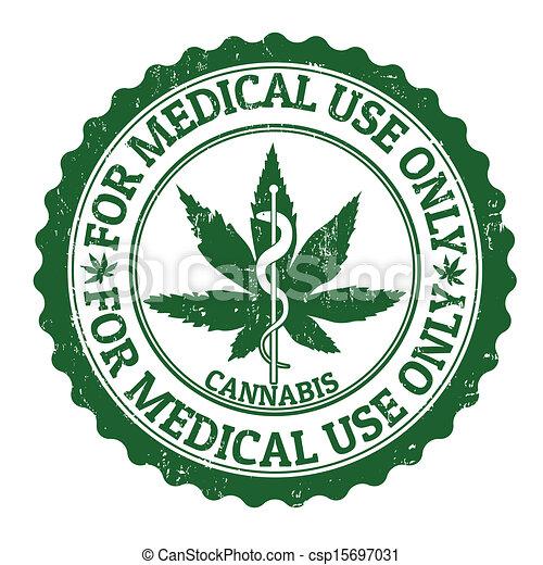 Medical marijuana stamp - csp15697031