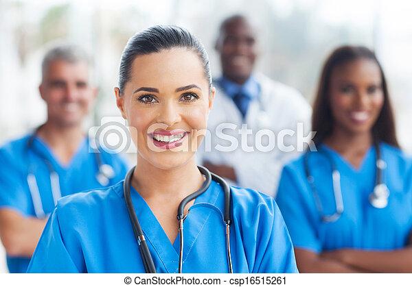 medical nurse and colleagues  - csp16515261