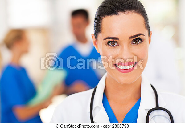 medical nurse closeup portrait - csp12808730