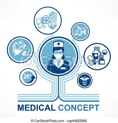 Medical Nurse Concept Medicine Symbol And Infographic Elements