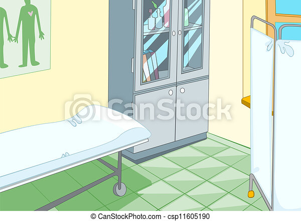 Medical Office Cartoon Background Vector Illustration Eps 10