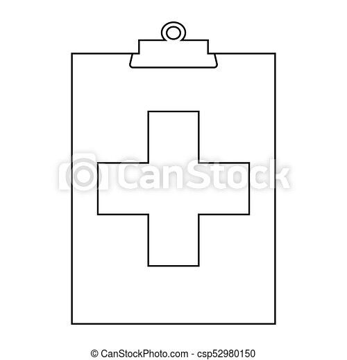 Medical Outline Symbol Abstract Medical Symbol On A White