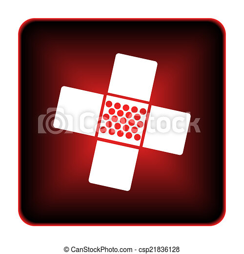 Medical patch icon - csp21836128