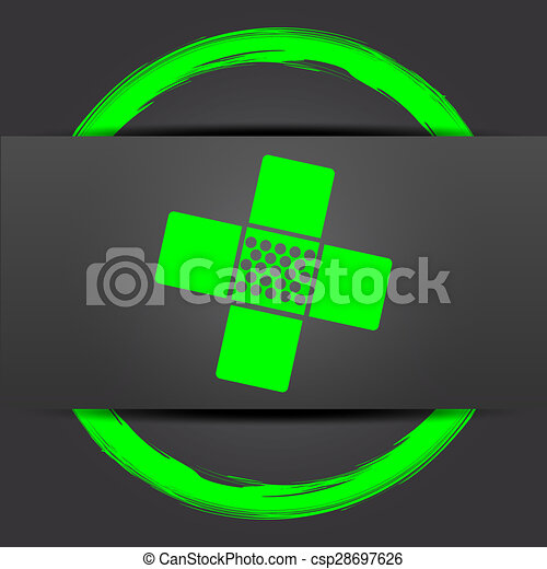 Medical patch icon - csp28697626