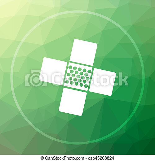 Medical patch icon - csp45208824