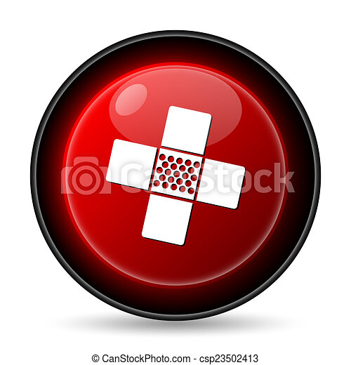 Medical patch icon - csp23502413