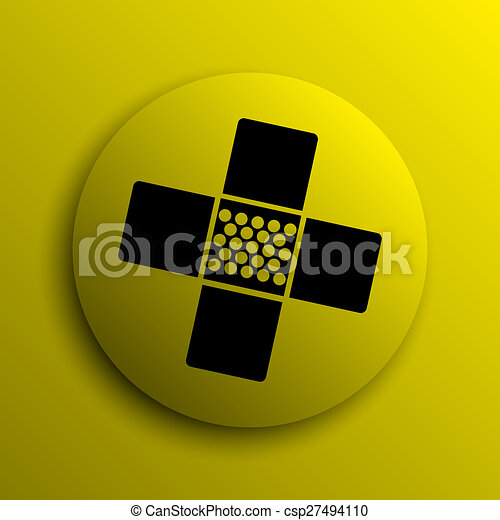 Medical patch icon - csp27494110