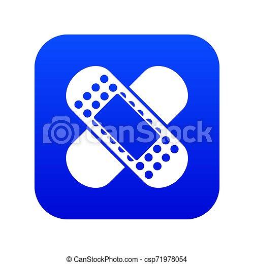 Medical patch icon digital blue - csp71978054