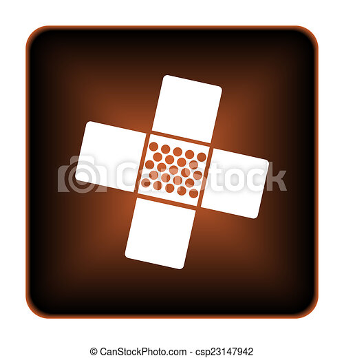 Medical patch icon - csp23147942