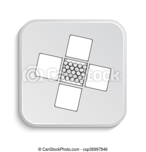 Medical patch icon - csp36997846