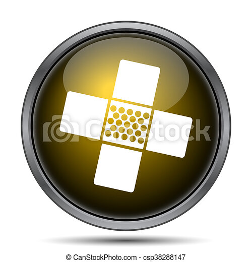 Medical patch icon - csp38288147
