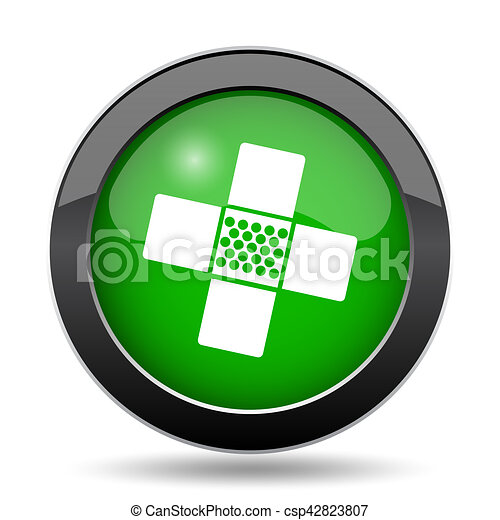 Medical patch icon - csp42823807