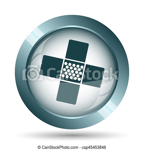 Medical patch icon - csp45453846