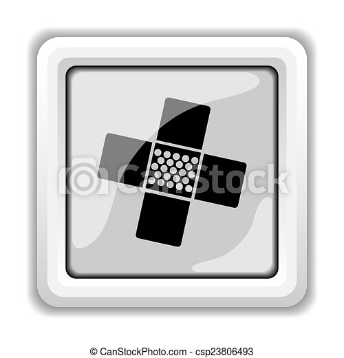 Medical patch icon - csp23806493