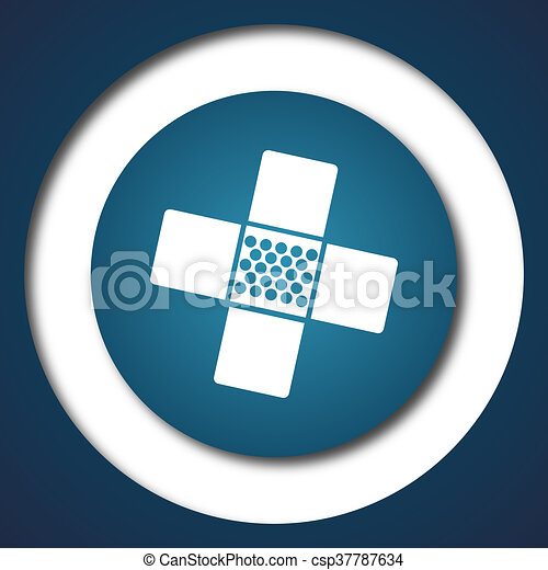 Medical patch icon - csp37787634